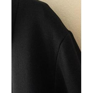 Plus Size Shirt Collar Insert Sweatshirt - BLACK 3XL