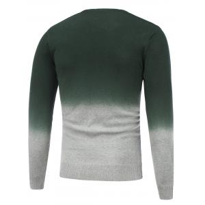 Ombre V Neck Graphic Sweater -