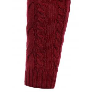 Cable Knit Stand Collar Half Zip Sweater -