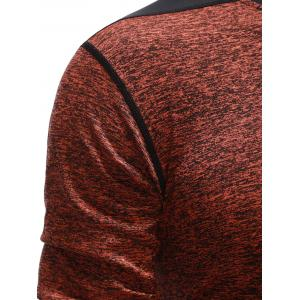 Skinny Contrast Panel Round Neck T-Shirt -