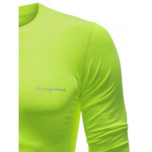 Quick Dry Long Sleeve Crew Neck Sports T-Shirt -