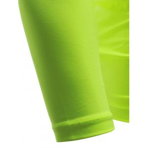 Quick Dry Long Sleeve Crew Neck Sports T-Shirt - NEON GREEN XL