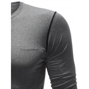 Quick Dry Contrast Stitch Sports T-Shirt -