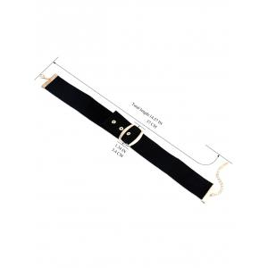 PU Leather Belt Buckle Choker - BLACK