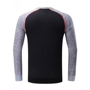 Colorful Edging Graphic Print Raglan Sleeve Sports Sweatshirt -