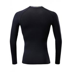 Color Block Splicing Quick Dry Raglan Sleeve Fitness T-Shirt -