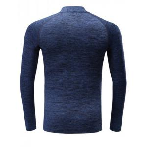 Roll Neck Quick Dry Raglan Sleeve Fitness T-Shirt -