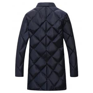 Plus Size Argyle Thicken Lengthen Quilted Coat -