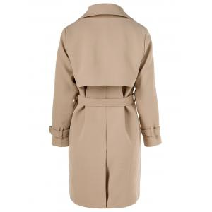 Belted Draped Trench Coat -