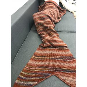 Winter Thicken Stripe Throw Bed Mermaid Blanket -