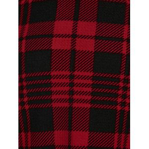 Plus Size Hooded Plaid T-Shirt - CHECKED 5XL