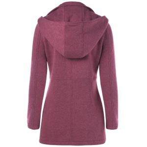 Flap Pockets Hooded Coat -