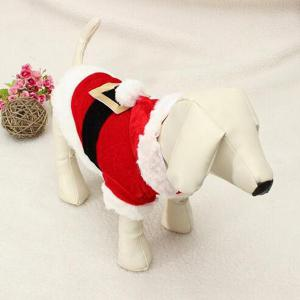 Merry Christmas Party Supplies Pet Dog Waistcoat Jacket Clothes -