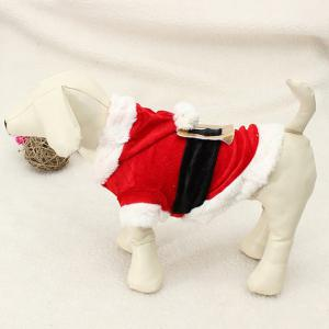 Merry Christmas Party Supplies Pet Dog Waistcoat Jacket Clothes - Red With White - Xxs