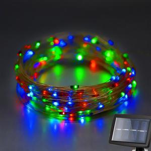 Solar Power LED String Light Christmas Festival Decoration Supplies - Colorful - One Size