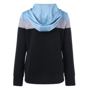 Zip Up Color Block Hoodie -