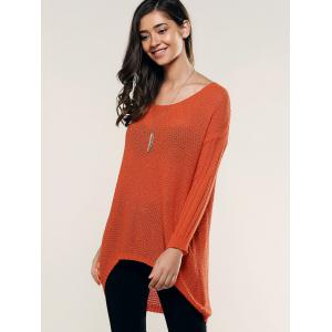 Hollow Out High Low Knitwear -