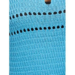 Tassel Hollow Out  Knitwear - LIGHT BLUE ONE SIZE