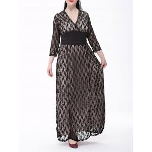 Long Formal Plus Size Evening Dress with Sleeves -