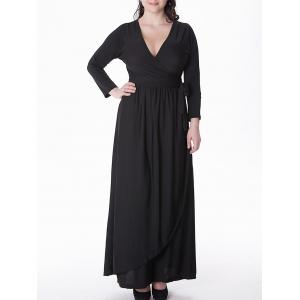 Plus Size Long Sleeve Maxi Formal Dress