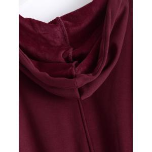 Plus Size Pullover Fleece Hoodie with Pockets -