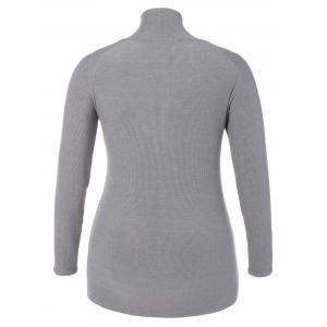 Plus Size Twist Front Hollow Out Knitwear -