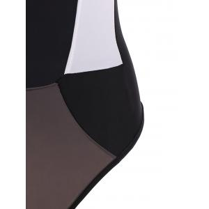 Hollow Out Color Block One-Piece Swimwear -
