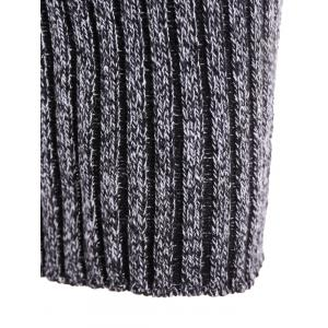 High Neck Long Sleeve Ribbed Fitted Jumper Dress -