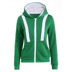 Hooded Contrast Zip Up Jacket
