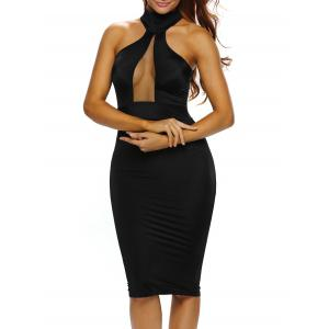 Mesh Insert Bodycon Night Out Dress
