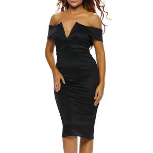 Off The Shoulder Midi Bodycon Dress