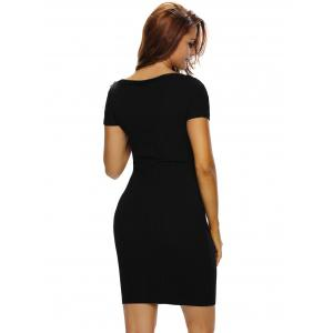Short Sleeve Fitted Dress -