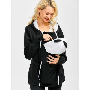 Casual Zip Up Baby Carrier Hoodie -