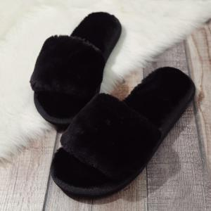 Faux Fur Slippers -