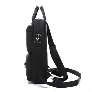 Pocket Nylon Zippers Backpack - Noir