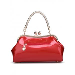 Vintage Kiss Lock Patent Leather Handbag -