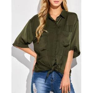 Tie Front Casual Shirt