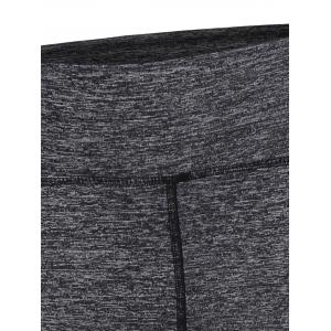 High Stretchy Yoga Running Leggings - GRAY L