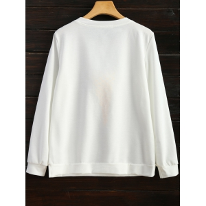 Icecream Cone Sweatshirt - Blanc 2XL