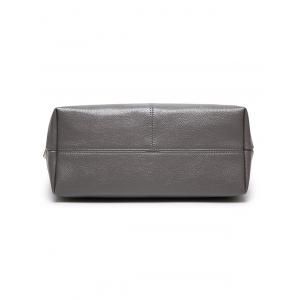 Textured PU Leather Pompons Shouder Bag -