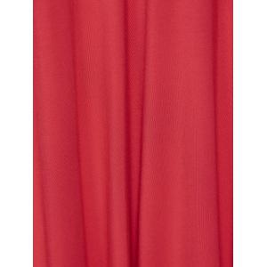 Plus Size Asymmetrical Smock Maxi Dress With Long Sleeves -