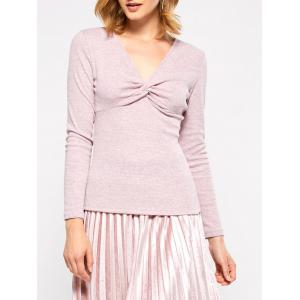 Twist Front Long Sleeve T-Shirt
