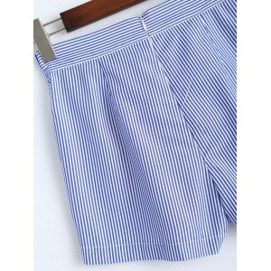 Striped  Shorts with Pockets -