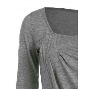 Long Sleeve Asymmetric T-Shirt -