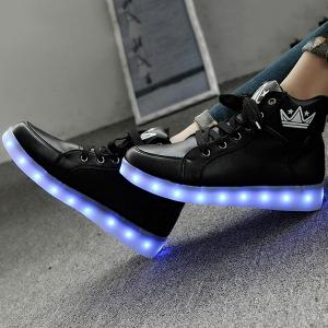 Light Up Clignotant Sneakers - Noir 38