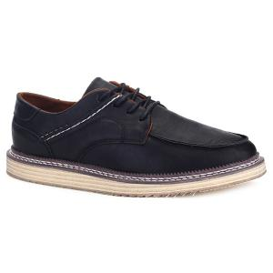Tie Up Stitching Faux Leather Casual Shoes