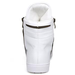 Colour Block Double Zipper Tie Up Boots - WHITE 43