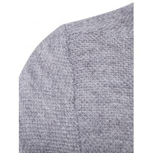 Pocket Texture Open Front Cardigan - GRAY 2XL
