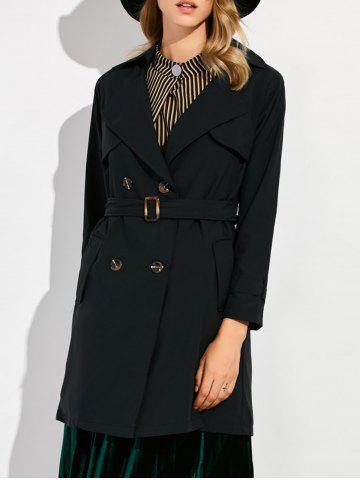 Cheap Double Breasted Slim Fit Trench Coat