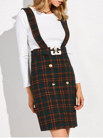 Hot Plaid Suspender Skirt and Slim Fit Tee